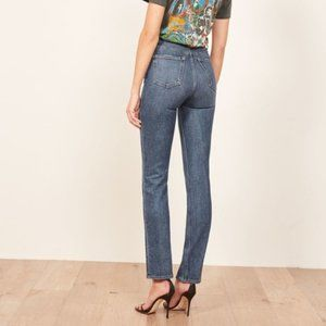 Reformation Liza High Straight Jeans Kasai Wash